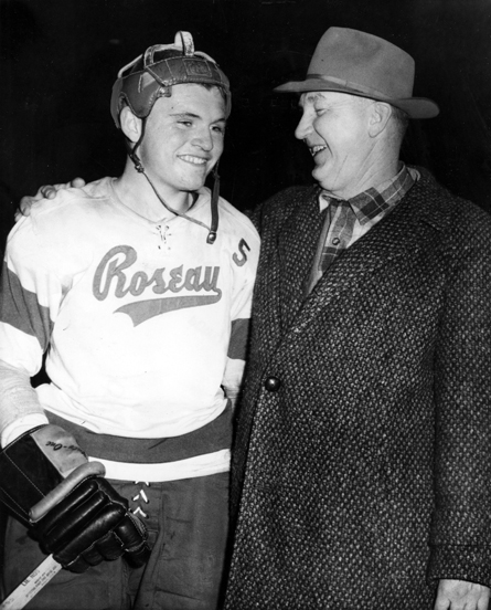 Don Ross, left, and coach Oscar Almquist Minneapolis Washburn 1959.jpg