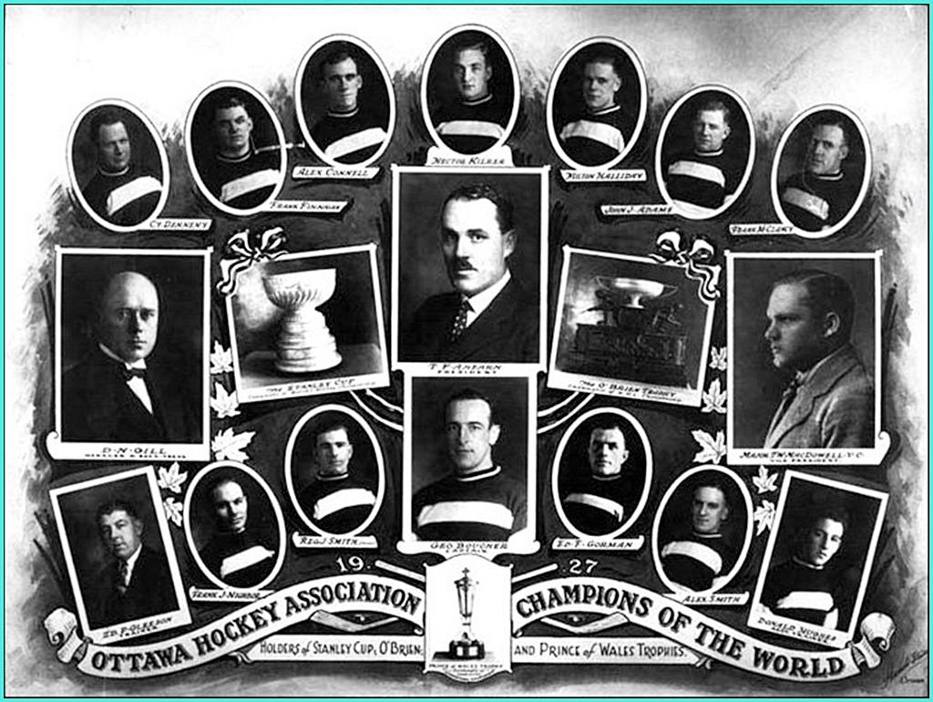 1927г.  Обладатели Кубка Стэнли 1927 года -  Оттава Сенаторз..jpg