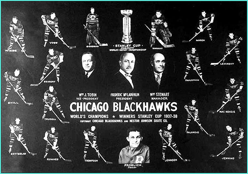 1938г.   Обладатели Кубка Стэнли 1938 года –   Чикаго Блэкхоукс..jpg