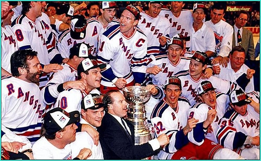 1994г.    Обладатели Кубка Стэнли 1994 года –  Нью - Йорк  Рейнджерс..jpg