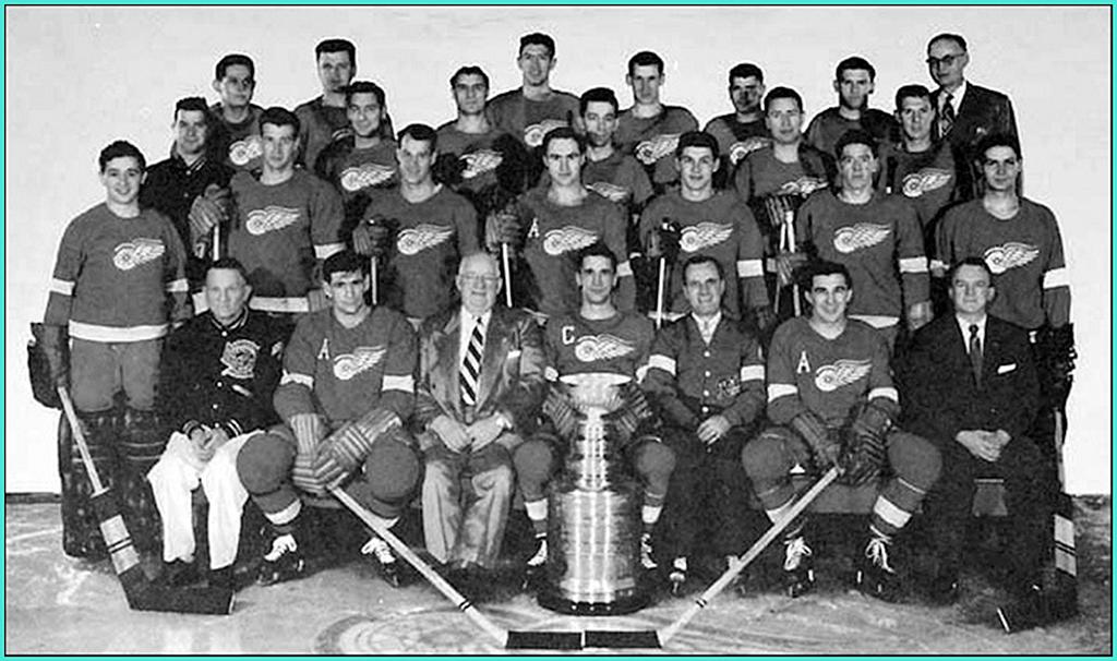 1954г.   Обладатели Кубка Стэнли 1954 года -   Детройт Ред Уингз..jpg