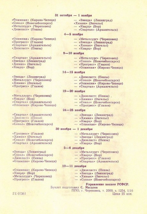 Хоккей 1988-89. Программа сезона. Вторая лига. Металлург, Череповец_08.png