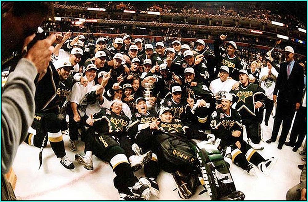 1999г.  Обладатели Кубка Стэнли 1999 года –   Даллас  Старз..jpg