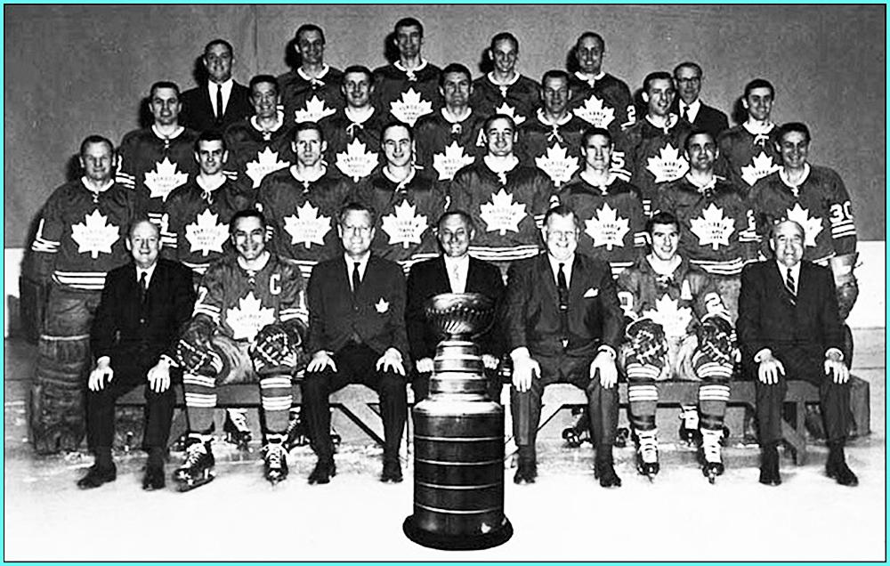 1967г.  Обладатели Кубка Стэнли 1967 года —   Торонто Мейпл Лифз..jpg