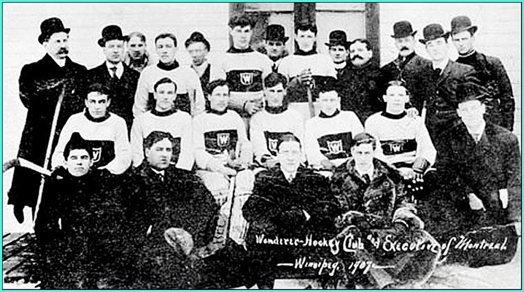 1908г.  Обладатели Кубка Стэнли сезона-1907-08 -  Монреаль Вандерерс..jpg