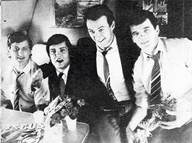 Чешские  хоккеисты  возращаются  домой  с  ЧМ.  (слева  направо)  Винсет  Лукач,  Дарий  Руснак,  Душан  Пашек  и  Игорь  Либа..jpg