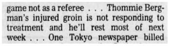 1977 12 31 Winnipeg Tribune p57 Bergmain injured.jpg