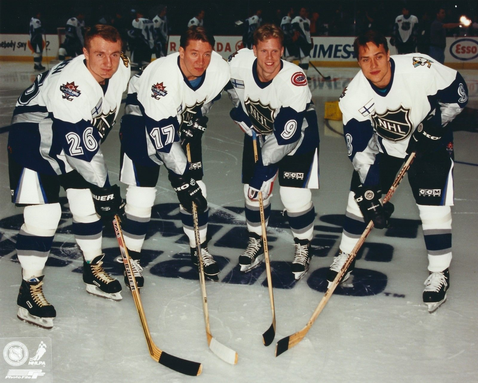 1998 Finland in the NHL All Star Game.JPG